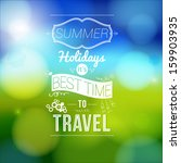 summer holidays poster with... | Shutterstock . vector #159903935