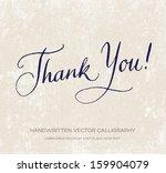 thank you. vector card   poster.... | Shutterstock .eps vector #159904079