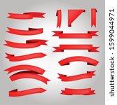 red ribbon vector illustration...   Shutterstock .eps vector #1599044971