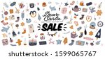 sale print with beautiful... | Shutterstock .eps vector #1599065767