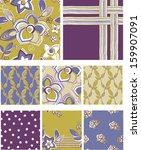 modern floral seamless vector... | Shutterstock .eps vector #159907091