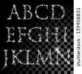 alphabet of silver glittering... | Shutterstock .eps vector #159908831