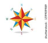 multicolor star compass.... | Shutterstock .eps vector #159909989