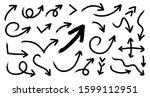 hand drawn arrow vector icons... | Shutterstock .eps vector #1599112951