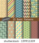 basic pattern's unit collection ... | Shutterstock .eps vector #159911339