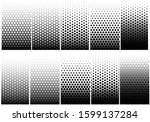 Vector  Halftone Geometric Set...