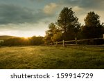 beautiful sunrise on the farm | Shutterstock . vector #159914729