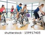 determined five people working... | Shutterstock . vector #159917405