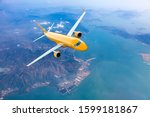 Orange Passenger Plane In...