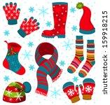 christmas icon set | Shutterstock .eps vector #159918215