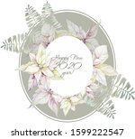 composition  frame of isolated... | Shutterstock . vector #1599222547
