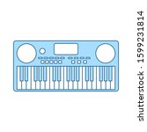 music synthesizer icon. thin...