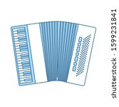 accordion icon. thin line with...