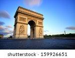 Arc De Triomphe At Sunset  Paris
