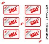 sale stitch sticker price tag.... | Shutterstock .eps vector #159928325