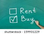 buy not rent concept on green...   Shutterstock . vector #159931229