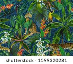 tropical seamless pattern with... | Shutterstock . vector #1599320281