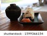 Onigiri Rice Served With Hot...