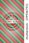 front squat christmas colors... | Shutterstock .eps vector #1599367921
