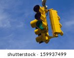 traffic light on green | Shutterstock . vector #159937499