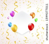illustration of a banner with... | Shutterstock .eps vector #1599377011