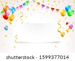 illustration of a banner with... | Shutterstock .eps vector #1599377014