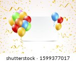 illustration of a banner with... | Shutterstock .eps vector #1599377017