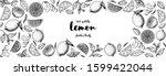 lemon hand drawn vector... | Shutterstock .eps vector #1599422044