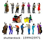 Jazz Musicians With Instruments ...