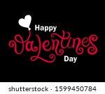 happy valentine's day. hand... | Shutterstock .eps vector #1599450784