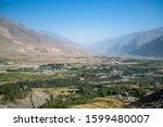 view to ishkashim city from... | Shutterstock . vector #1599480007