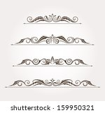 set of four calligraphic floral ... | Shutterstock .eps vector #159950321