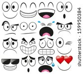 vector cartoon set of different ... | Shutterstock .eps vector #159950384
