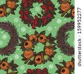christmas decorative pattern...   Shutterstock .eps vector #159952277