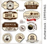 coffee labels and badges | Shutterstock .eps vector #159954461