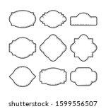 vector decorative frame or...   Shutterstock .eps vector #1599556507