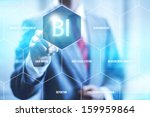 business intelligence concept... | Shutterstock . vector #159959864