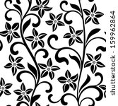 seamless pattern with black... | Shutterstock .eps vector #159962864