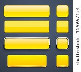 set of blank yellow buttons for ... | Shutterstock .eps vector #159967154