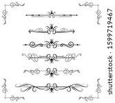 text separator decoratice... | Shutterstock .eps vector #1599719467