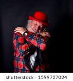 old gentleman in fake tuxedo is ...   Shutterstock . vector #1599727024