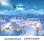 panoramic landscape with santa... | Shutterstock .eps vector #159973499