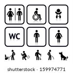 Toilet Icons  Vector...