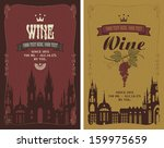 two labels for wine with the... | Shutterstock .eps vector #159975659