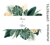 tropical banner arranged from... | Shutterstock .eps vector #1599783751
