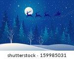 vector illustration of santa... | Shutterstock .eps vector #159985031