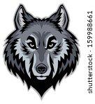 wolf head mascot | Shutterstock .eps vector #159988661