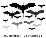 flying birds. herons. vector...   Shutterstock .eps vector #1599888811