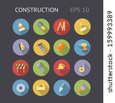flat icons for construction and ...