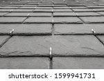 Background Slates Laid On Roof...
